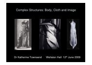 Complex Structures: Body, Cloth and Image