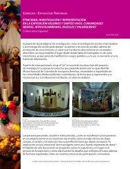 etnicidad, investigación y representación en la ... - Museo Nacional