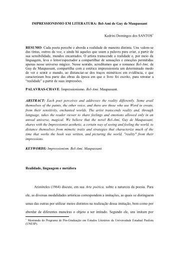 IMPRESSIONISMO EM LITERATURA: Bel-Ami de ... - revista Icarahy