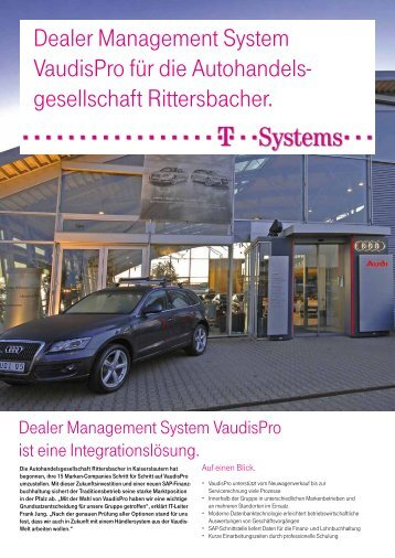 Referenz VaudisPro Rittersbacher - T - Systems International Gmbh