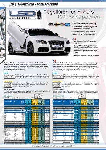 Flügeltüren für Ihr Auto LSD Portes papillon - Jec Import SA