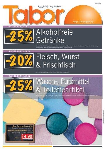 Wasch-, Putzmittel & Toiletteartikel Alkoholfreie Getränke ... - Tabor