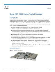 Cisco ASR 9000 Series Ethernet Line Cards - Spectra