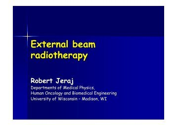 External Beam Therapy - Computational Medical Physics Working ...