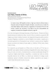 Exposición temporal Leo Matiz. Mirando el infinito - Museo Nacional