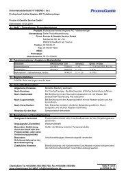 Sicherheitsdatenblatt 91/155/EWG ( de ) Professional ... - Hygi.de