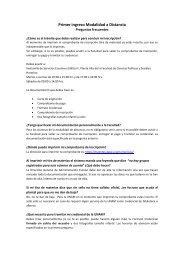 Primer ingreso Modalidad a Distancia - suaed - UNAM