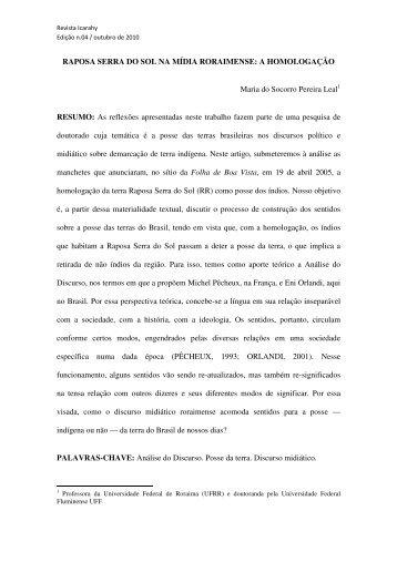 RAPOSA SERRA DO SOL NA MÍDIA RORAIMENSE - revista Icarahy