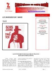 n°21 avril 2008 - Contacter un comité local d'Attac