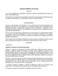 Ver Decreto 1746 de 2003 - Museo Nacional