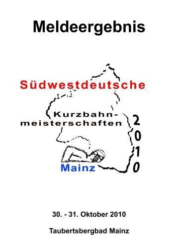 Meldeergebnis - Südwestdeutscher Schwimmverband