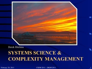 SS&Complexity - Systems World