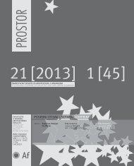 PROSTOR - Arhitektonski fakultet - Sveučilište u Zagrebu
