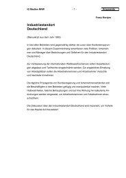 Industriestandort Deutschland - Manuskript aus ... - Welt der Arbeit