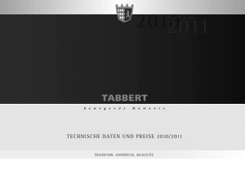 TECHNISCHE DATEN UND PREISE 2010/2011 - Tabbert