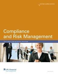 Compliance and Risk Management - LPL Financial