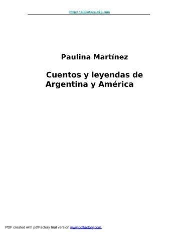 Cuentos y leyendas de Argentina y America - Folklore Tradiciones