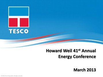 Howard Weil 41st Annual Energy Conference - TESCO Corporation