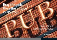 Buy the pub, then the choice is yours... - Christie + Co Corporate