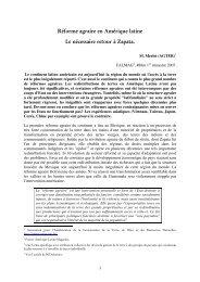 Réforme agraire en Amérique latine Le nécessaire retour à ... - aGter