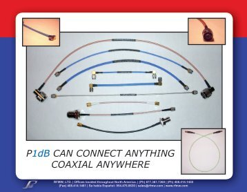 P1dB CAN CONNECT ANYTHING COAXIAL ANYWHERE - RfMW