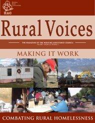 Making it Work: Combating Rural Homelessness - Housing ...