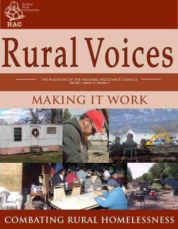 Making it Work: Combating Rural Homelessness - Housing ...