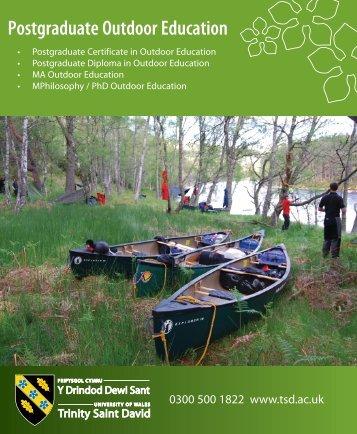 Programme Brochure [pdf] - University of Wales Trinity Saint David
