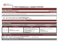 5TH FIDSSA CONFERENCE 2013 – ACADEMIC PROGRAMME