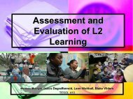Assessment and Evaluation of L2 Learning