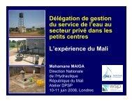 Délégation de gestion du service de l'eau au secteur privé ... - WSP