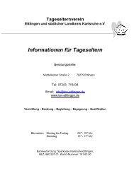 Informationen für Tageseltern - Tageselternverein Ettlingen