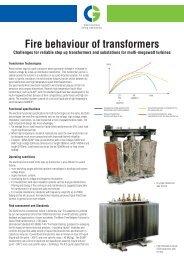 Fire behaviour of transformers - Cgglobal.com