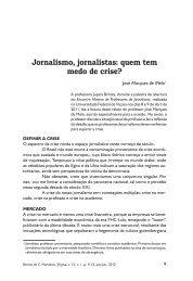 Jornalismo, jornalistas: quem tem medo de crise?