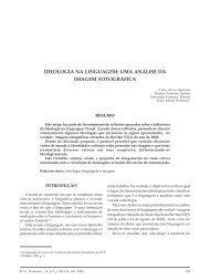 ideologia na linguagem - Centro de Ciências Humanas, Letras e Artes