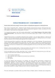 world pneumonia day - Partnership for TB Care and Control in India