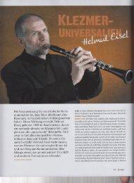 Klezmer Universalien – SONIC 1/2013 - Helmut Eisel