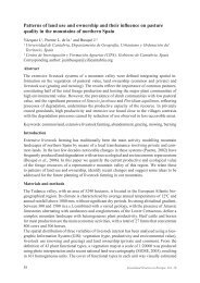 Managing the summer alpine pastures in a context of recurrent ...