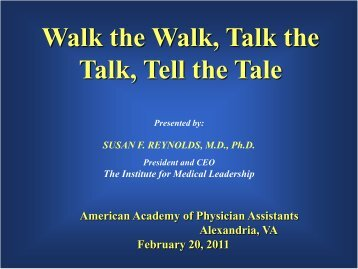 What is Leadership? - American Academy of Physician Assistants