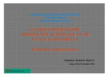 El Procedimiento de Aprobación Automática y de Evaluación Previa