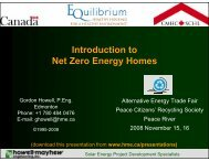 Introduction to Net Zero Energy Homes - Howell-Mayhew Engineering