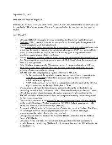 2012.09.21 - San Diego County Medical Society