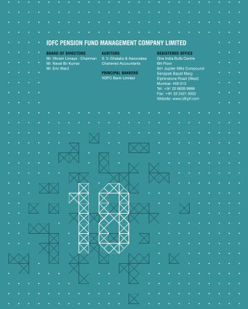 IDFC PENSION FUND MANAGEMENT COMPANY LIMITED