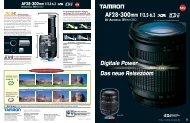 Digitale Power Das neue Reisezoom Digitale ... - Tamron Europe