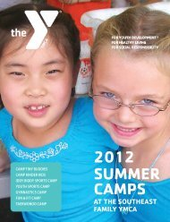 2012 SUMMER CAMPS - YMCA of Greater Rochester