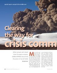 Clearing the Way for Crisis Communication - International ...
