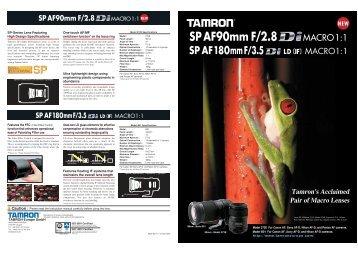 Tamron's Acclaimed Pair of Macro Lenses - Tamron Europe
