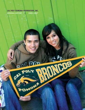 2006/2007 Annual Report - Printable (PDF) - Cal Poly Pomona ...