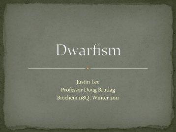 Justin Lee Professor Doug Brutlag Biochem 118Q, Winter 2011