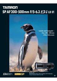 SP AF200-500mm F/5-6.3 Leichtes und kompaktes ... - Tamron Europe